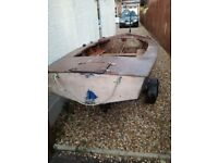 Boat GP14 wooden boat and trailer