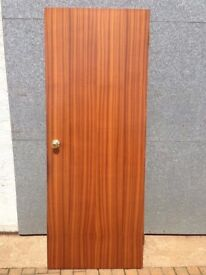 Sapele Flush Wood Veneer Doors complete with handles, latches and hinges