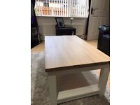 Coffee table and side unit
