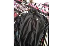 Adidas track jacket black