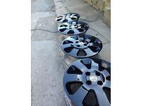 "Vauxhall Corsa 4x100 15"" c/d SXI/SRI Alloy Wheels & Tyres Gloss Black silver Griffin"