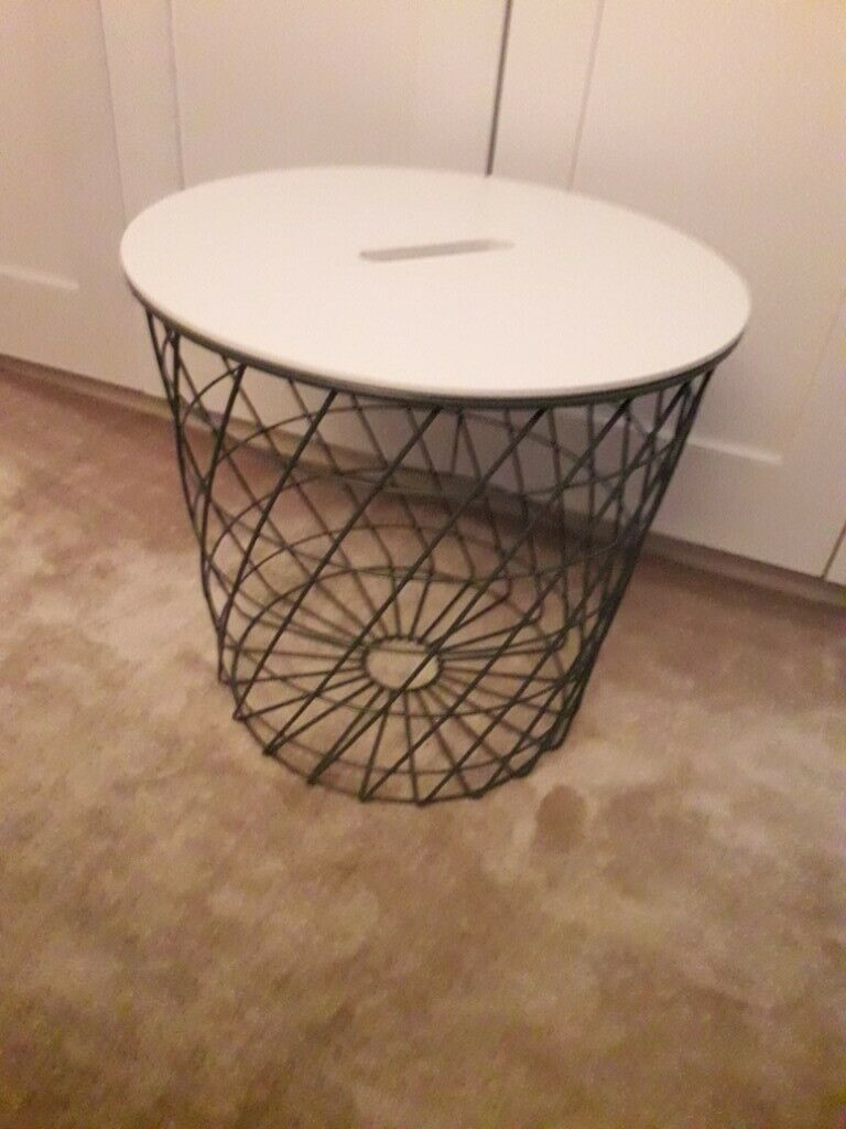Ikea Kvistbro Coffee Table With Storage Teal With White Lid In Chelsea London Gumtree