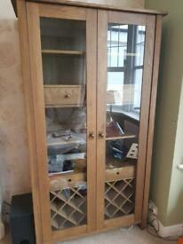 Ikea Hemnes High Cabinet With Mirror Door In White Excellent
