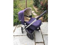 Bugaboo pram buggy with cosy toes, rain cover and car seat adaptors