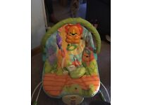 Fisher price baby bouncer vibrating chair.