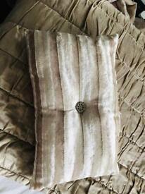 Cream diamonte cushion
