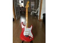 Squier by Fender Classic Vibe 50s Stratocaster Fiesta Red Discontinued Colour Electric Guitar