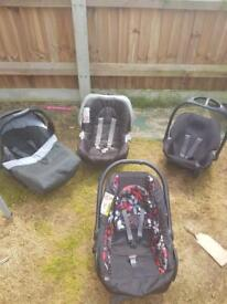 4 First stage car seats available (to be sold individual or together)