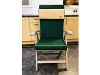 Solid Teak Reclining Garden Chair - excellent condition 💕