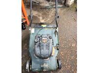 petrol lawn mower self propelled with roller