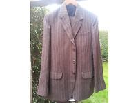 Vintage (Retro) Brown Suit - White pin stripe - Excellent condition