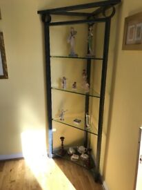 Glass display corner unit