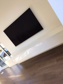 IKON gloss white modern designer TV / media unit 220cm