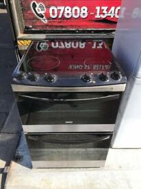 Black Zannussi 60cm wide ceramic top cooker(needs a wee clean) but perfect working order £125