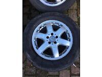 Alloys 17 inch Mercedes ML 500 needs new tyres