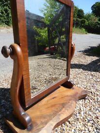 Original Vintage antique small swing mirror