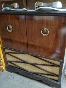 Oakville Antique Radio Cabinet Converted to Storage Cupboard Midcentury 1960s Solid wood Free pickup delivery Oakville
