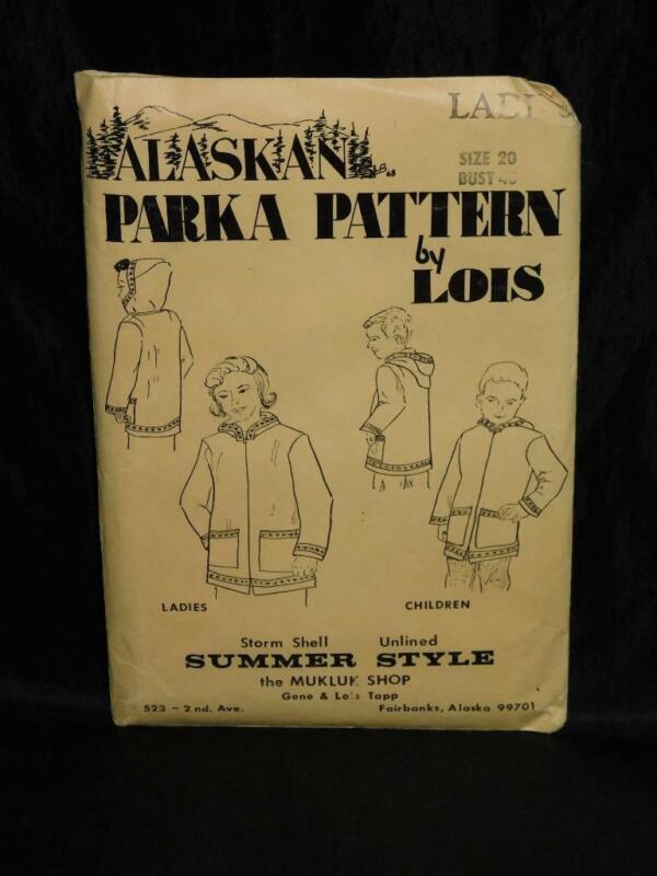 Vintage Alaska Summer Style Kuspuk Parka Sewing Pattern by Lois L 20 Uncut Woman