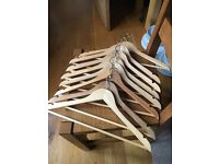 SET OF 8 WOODEN HANGERS - MORE SETS AVAILABLE