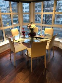 6 Leather dinning room chairs for sale