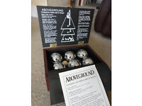 Luxury 6 Boules Set in Wooden Carry Box