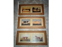 PICTURES. QUIRKY FARM YARD ANIMALS set of 3