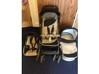 3 in 1 hauck pushchair travel system