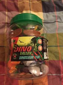 Tub of Dino valley dinosaurs