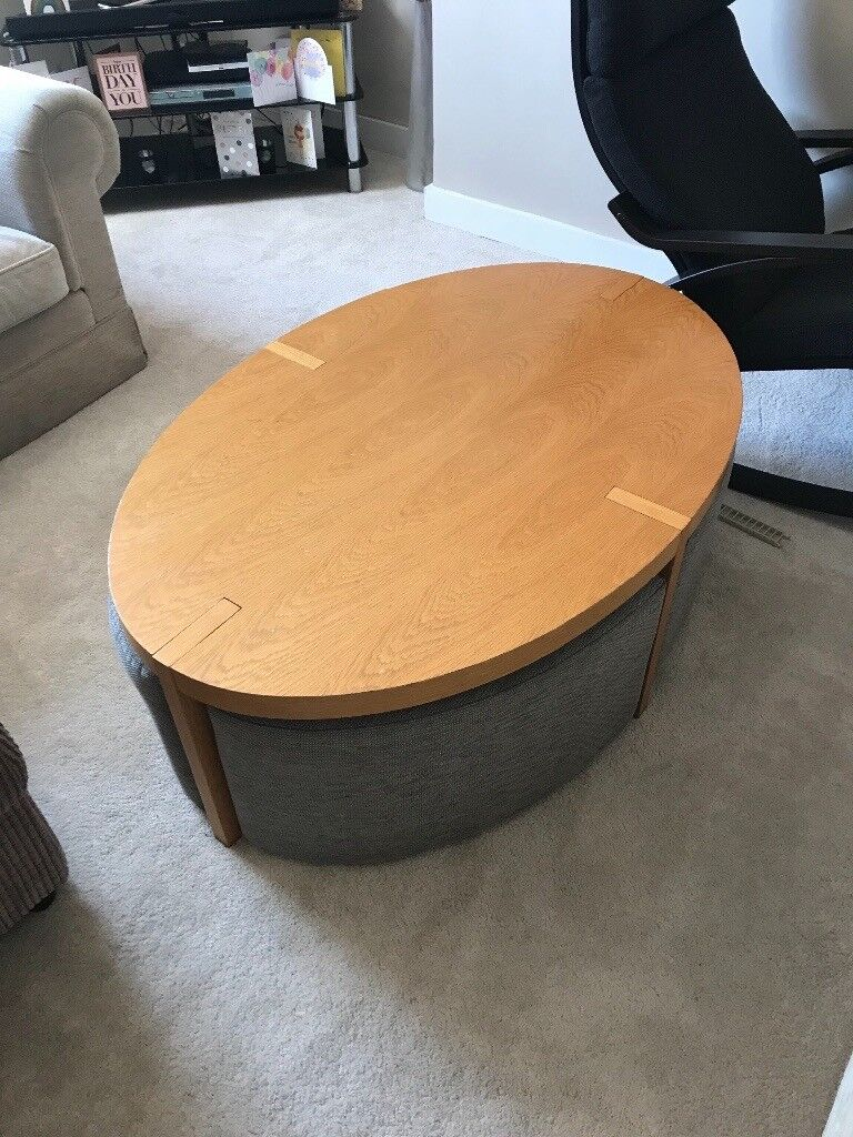 Coffee Table With Pull Out Seats In Cramlington Northumberland