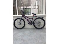 "Apollo Craze Girls Mountain Bike - 24"" Wheels / Full Suspension"