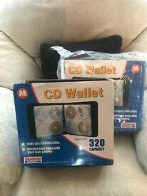 Two new Maplin 320 Capacity CD/DVD Wallets