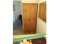 SINGLE WARDROBE. Oak Furnitureland. Very new, not used for more than 6months. Excellent cond.