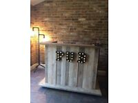 Rustic Garden Bar, pallet style bar, man cave furniture, made for you, stock available