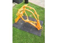 KTM SX 125 2002 frame and swinging arm