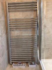 Heated chrome towel rail