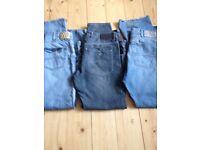3 pairs genuine designer jeans- waist 38 - Armani x2 + Ralph Lauren Polo x 1