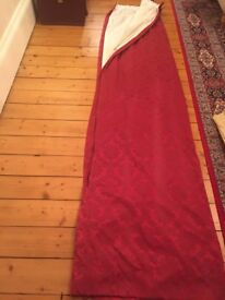 Large Red Curtains