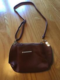Ladies Brown Dorothy Perkins hand bag