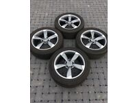 "4 X 17"" AUDI STYLE ALLOY WHEELS 225/50/17 TYRES 5X112 ALSO FITS VOLKSWAGEN"