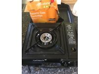 Camping stove with 3 butane gas refills