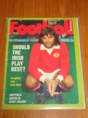 FOOTBALL MONTHLY OCTOBER 1972 GEORGE BEST MANCHESTER IRELAND UK MAGAZINE (Best Football Magazine Uk)