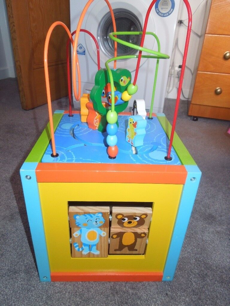 Child's Wooden Multi-Activity Cube