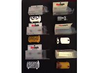 Novelty cigarette lighter holders, new in boxes. Set of 6 for £5. Gift idea??