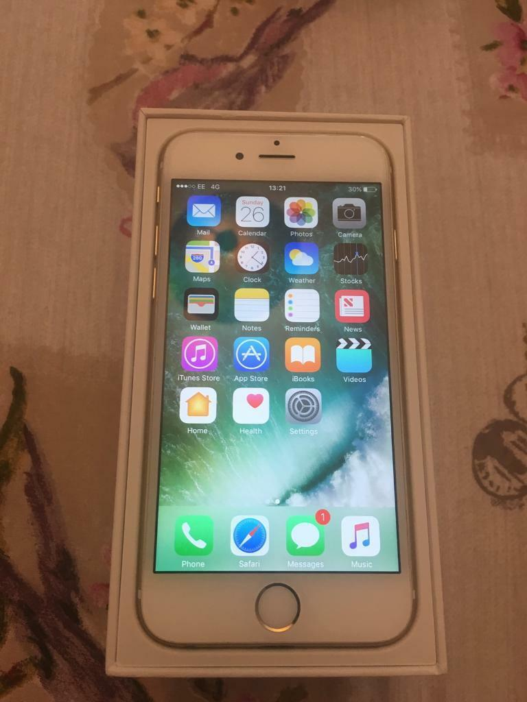 iPhone 6 EE boxed with chargerin Colchester, EssexGumtree - iPhone 6 on EE in gold.This iPhone is in excellent cosmetic condition however, the phone does not ring out loud hence the low asking price. I am sure that this could fixed at an Apple Store. Phone has been factory re set.Collection from Colchester...