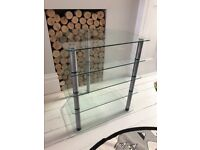 5 tier Alphason Glass Hi fi / AV Stand