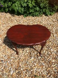 Small wooden oval coffee table