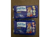 Boys huggies pull ups size 5 & 6 (6 packs)