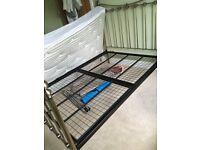 Metal double/queen bed frame