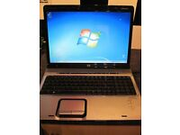 "HP LAPTOP WINDOWS 7 WEBCAM 2 GIG MEMORY 17"" SCREEN"