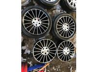 "17"" ZITO ALLOY WHEELS VAUXHALL ASTRA VECTRA ZAFIRA SET OF 4"